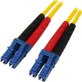Startech.com® 3.28' LC/LC OS1 Singlemode Duplex Fiber Optic Patch Cable, Yellow