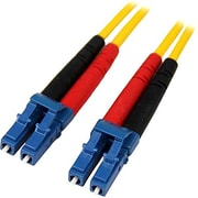 Startech.com® 13.1' LC/LC OS1 Singlemode Duplex Fiber Optic Patch Cable, Yellow