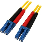 Startech.com® 22.97' LC/LC OS1 Singlemode Duplex Fiber Optic Patch Cable, Yellow