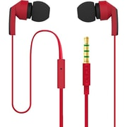 Incipio® F80 Hi-Fi Stereo Earbuds With Microphone, Red/Black