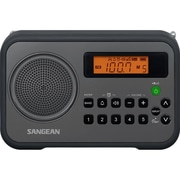 Sangean PR-D18 AM/FM Stereo Digital Tuning Portable Receiver, Black