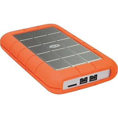 Lacie Rugged Triple 1.5TB External USB 3.0/FireWire/i.LINK 800 Hard Drive, Silver/Orange