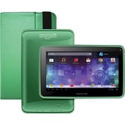Visual Land® Prestige Pro 7D 7 8GB Android 4.1 Tablet With Folio Bundle, Green
