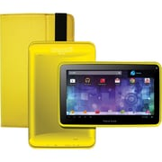 Visual Land® Prestige Pro 7D 7 8GB Android 4.1 Tablet With Folio Bundle, Yellow