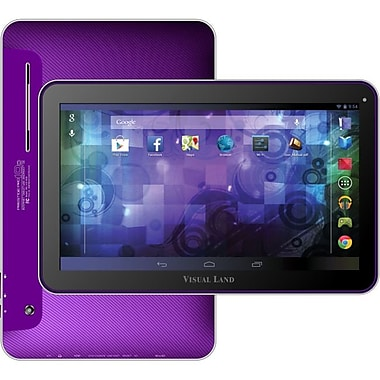 Visual Land® Prestige Pro 10D 10in. 16GB Android 4.2 Tablet With Dual Camera, Purple