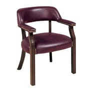 COASTER Leather like Vinyl Captain's Office Chair Oxblood
