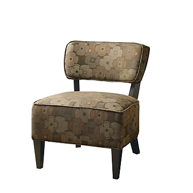 COASTER Smooth Upholstered Wood Accent Chairs Dark Brown