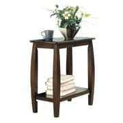 COASTER 24H x 12W x 23.5D Wood Accent Table Walnut