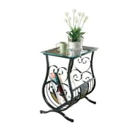 COASTER 21.5 H x 13 W x 20 D Metal Chairside Table Black