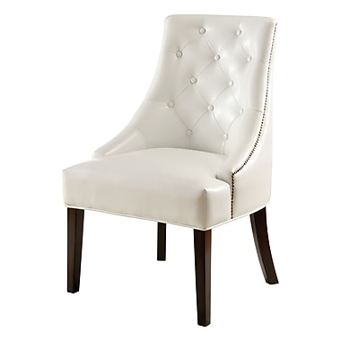 COASTER Accent Seating Faux Leather Lounge Chair, White (900283)