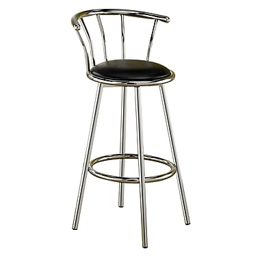 COASTER Cleveland 29in.H Metal Bar Stool Black