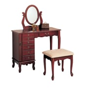 COASTER Wood 48.25 H x 36 W x 16 D Vanity Set Warm Cherry