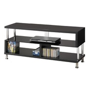 COASTER Wood & Metal 17.25H x 48W x 18D TV Stand Black