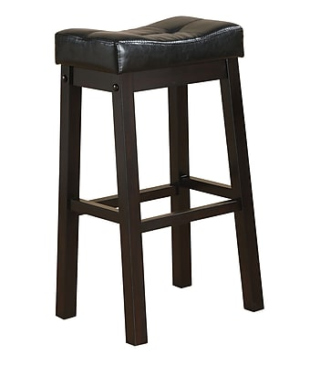 COASTER Cappuccino Bar Stool with Plush Upholstered Seat 551730