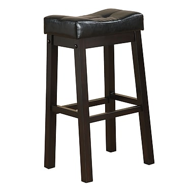 COASTER Cappuccino Bar Stool with Plush Upholstered Seat