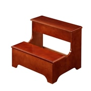 COASTER Step Stool Wood and Wood Veneers Storage Bench Traditional