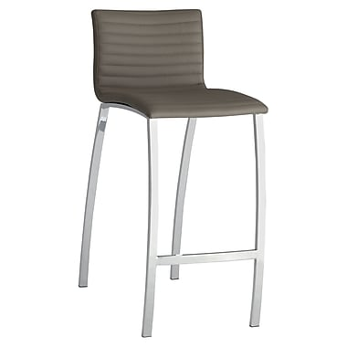COASTER Ribbed Bar Height Stool With Bowed Legs Taupe