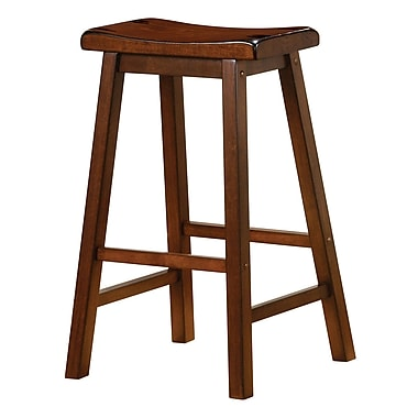 COASTER Saddle Bar Stool Walnut