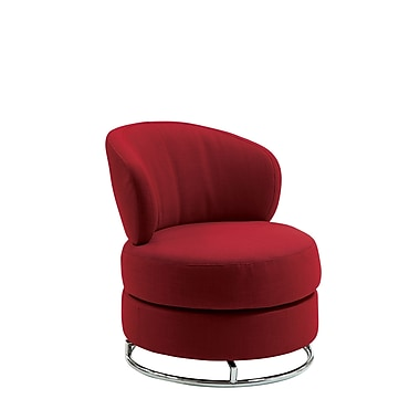COASTER Thick Padded Metal & Fabric Accent Chairs Red Fabric