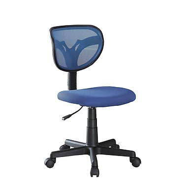 COASTER Mesh Fabric Adjustable Height Office Chair Blue