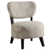 COASTER Wood & Fabric Padded  Seating Chair  Floral Pattern