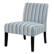 COASTER Wood & Fabric Contemporary Accent Chair, Leaf Pattern