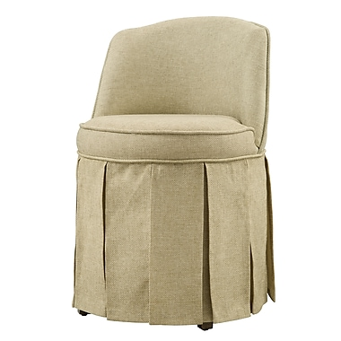 COASTER Vanity Stool Wood Seating Pleated Skirt