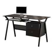 COASTER Computer Desk with Two Storage Drawers, Black (800436)