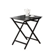 COASTER Wood / Metal Tray Tables Black