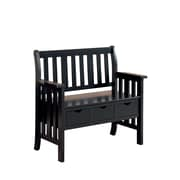 COASTER Three Drawer Storage Bench Black