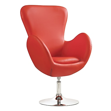 COASTER Metal & Fabric Swivel Leisure Accent Chairs Red