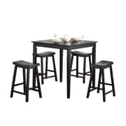 COASTER Backless Bar Stools and Table Black
