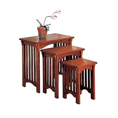 COASTER Tables Nesting Oak