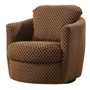 COASTER Fabric Diamond Accent Chair, Brown (900405)
