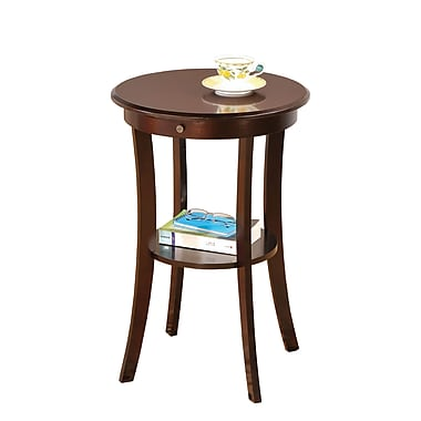 COASTER 27in.H x 19in.W x 19in.D Wood Accent Table  Cappuccino