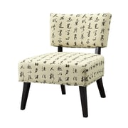 COASTER Wood & Fabric Seating  Accent Chairs Chinese Script