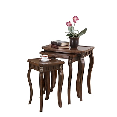 COASTER Tables Nesting Table Dark Wood Tone