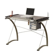 COASTER Desks Metal & Glass Drafting Table Gray