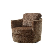 COASTER Seating Wood & Fabric Accent Chairs Leopard