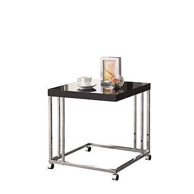 COASTER Metal Snack Table High Gloss Black