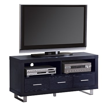 COASTER Wood and Wood Veneers 23.625in.H x 47.25in.W x 17.75in.D TV Stand Rich Black