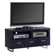 "COASTER Wood and Wood Veneers 23.625""H x 47.25""W x 17.75""D TV Stand Rich Black"