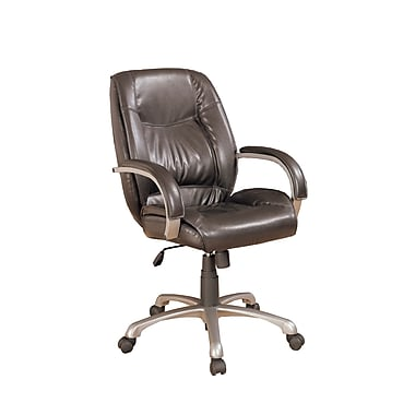 COASTER Leather  Office Task Chair Black, Brown