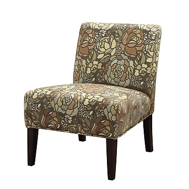 COASTER Accent Wood & Fabric Seating Chair  Stained Glass Pattern