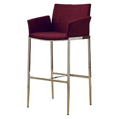 COASTER Fabric Bar Stool Cranberry