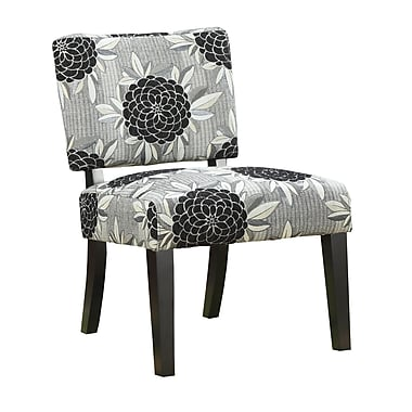 COASTER Fabric Accent Chair, Black/Gray (902050)