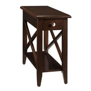 COASTER Chairside Table Cherry Dark Brown