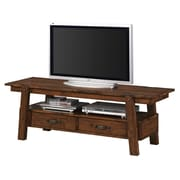 COASTER Wood 20 H x 60 W x 18.75 D TV Stand Rustic Pecan