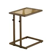 COASTER 19.25H x 16.5W x 12.25D Metal & Glass Accent Table Copper
