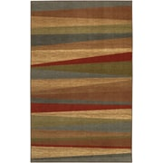 COASTER Rug Printed Nylon 5 x 8 Mayan Sunset Abstract Stripes